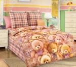 Детский комплект постельного белья Бамбино «Мишкины друзья»